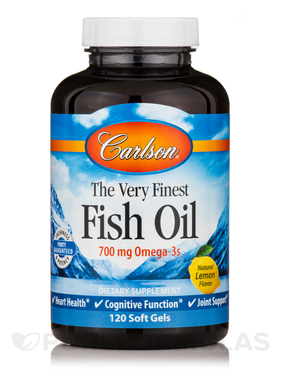 Fish Oil Lemon Flavor - 120 Soft Gels