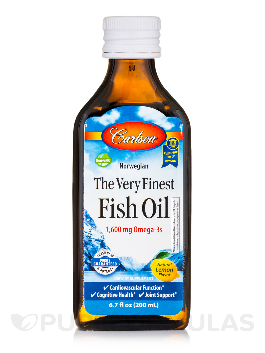Fish Oil Lemon Flavor - 6.7 fl. oz (200 ml)