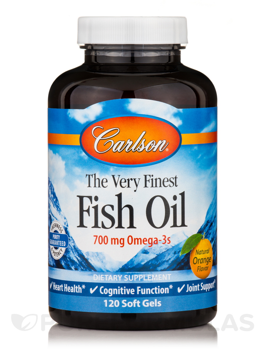 Fish Oil Orange Flavor 1000 mg - 120 Soft Gels