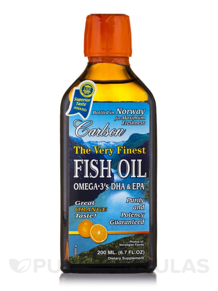 Fish Oil Orange Flavor - 6.7 fl. oz (200 ml)