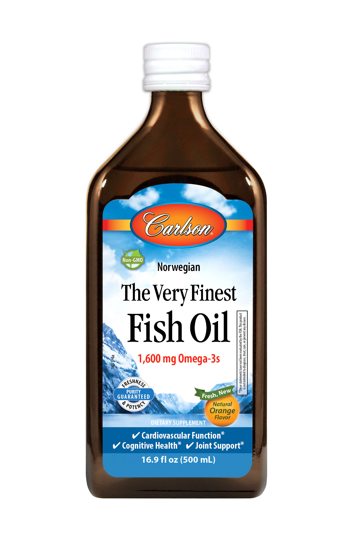 The very finest fish oil natural orange flavor 16 9 fl for Carlson labs fish oil