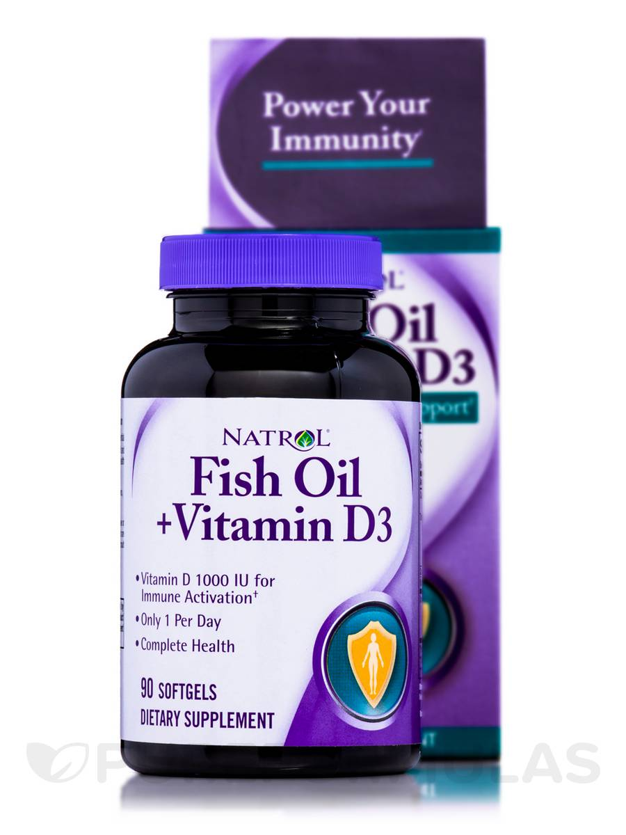 Fish oil vitamin d3 90 softgels for Fish oil vitamin d3