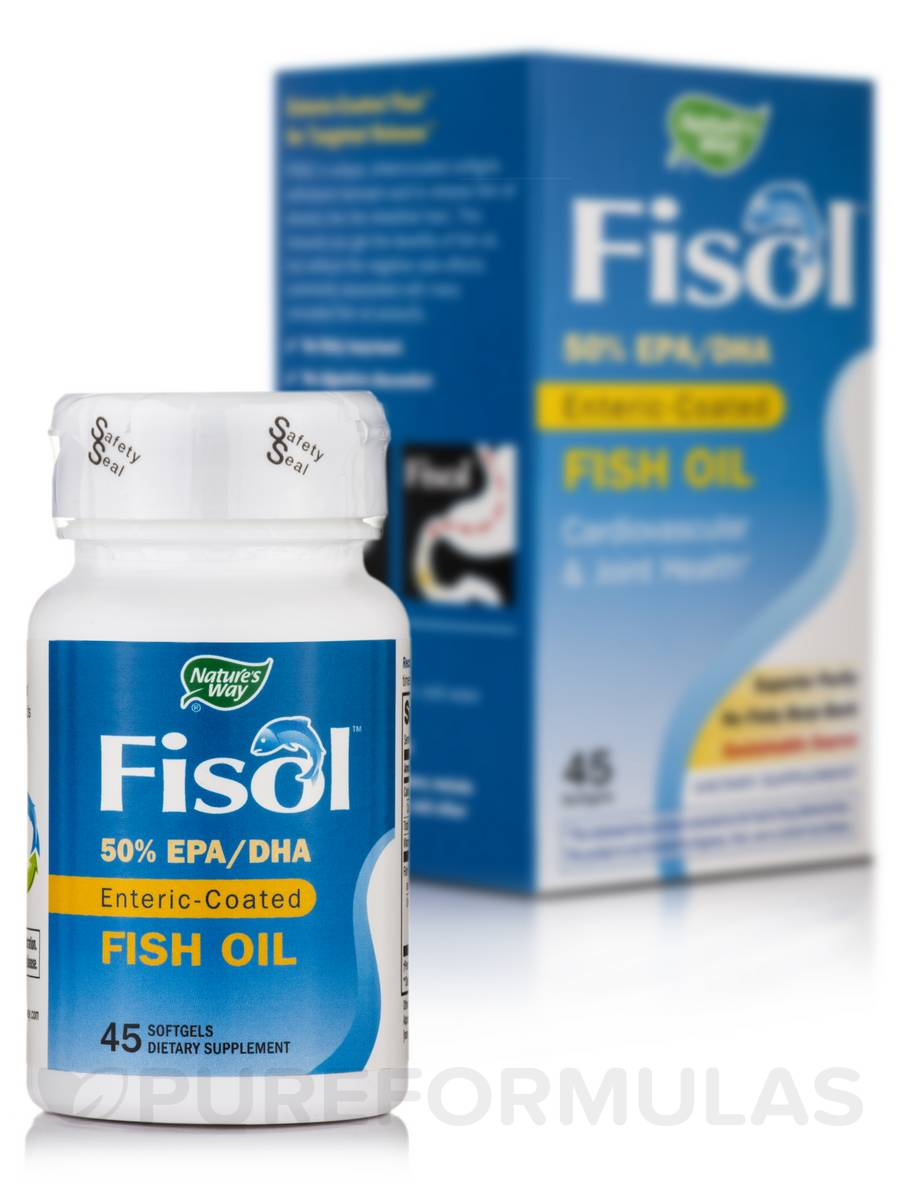 Fisol Fish Oil - 45 Softgels