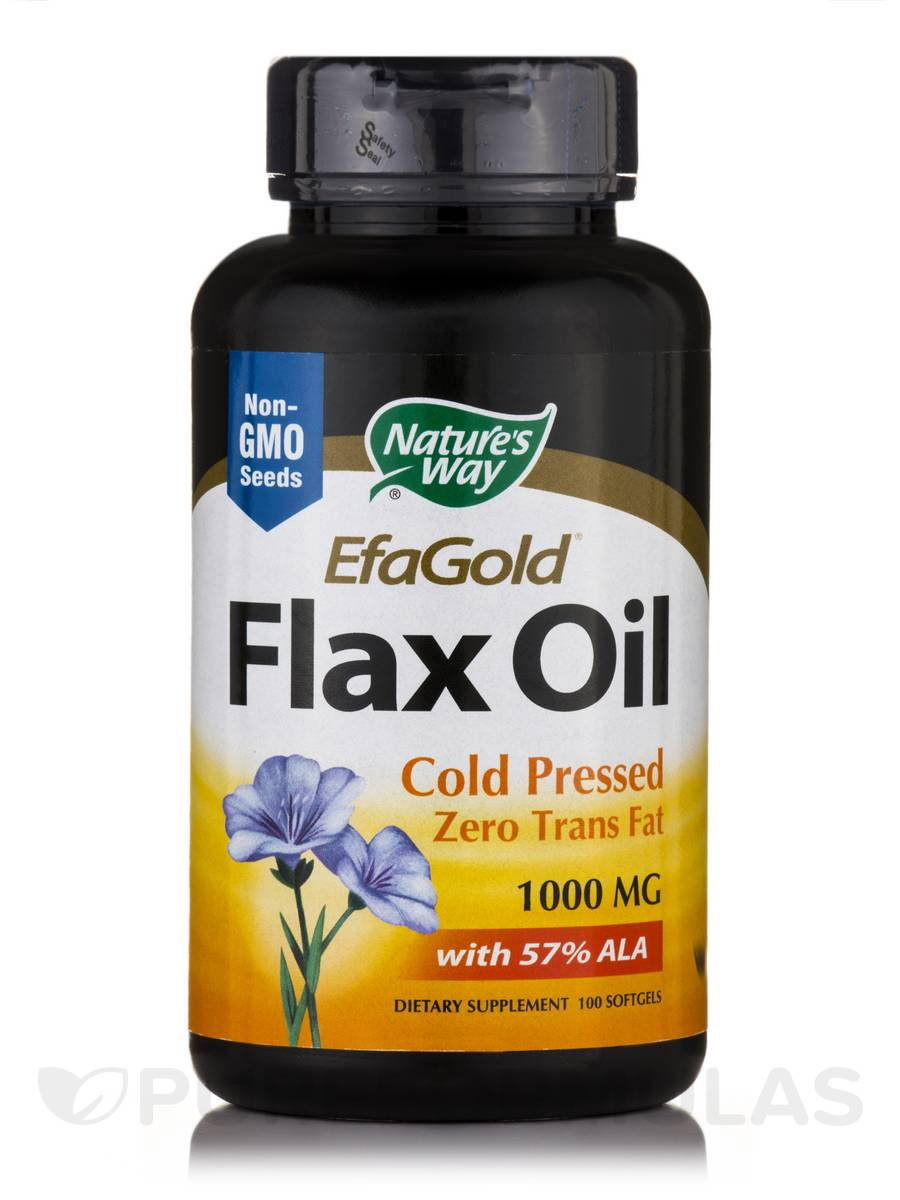 Flax Oil 1000 mg - 100 Softgels