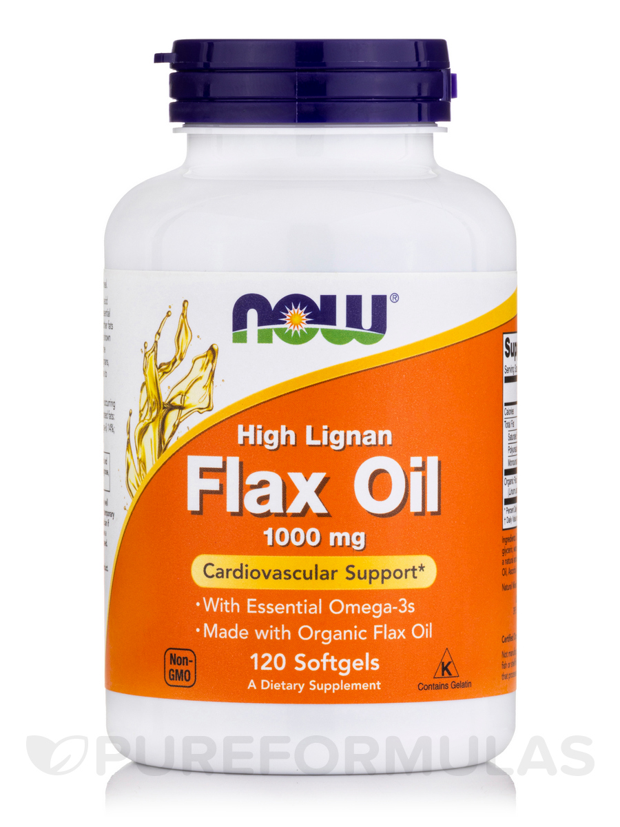 High Lignan Flax Oil 1000 mg - 120 Softgels