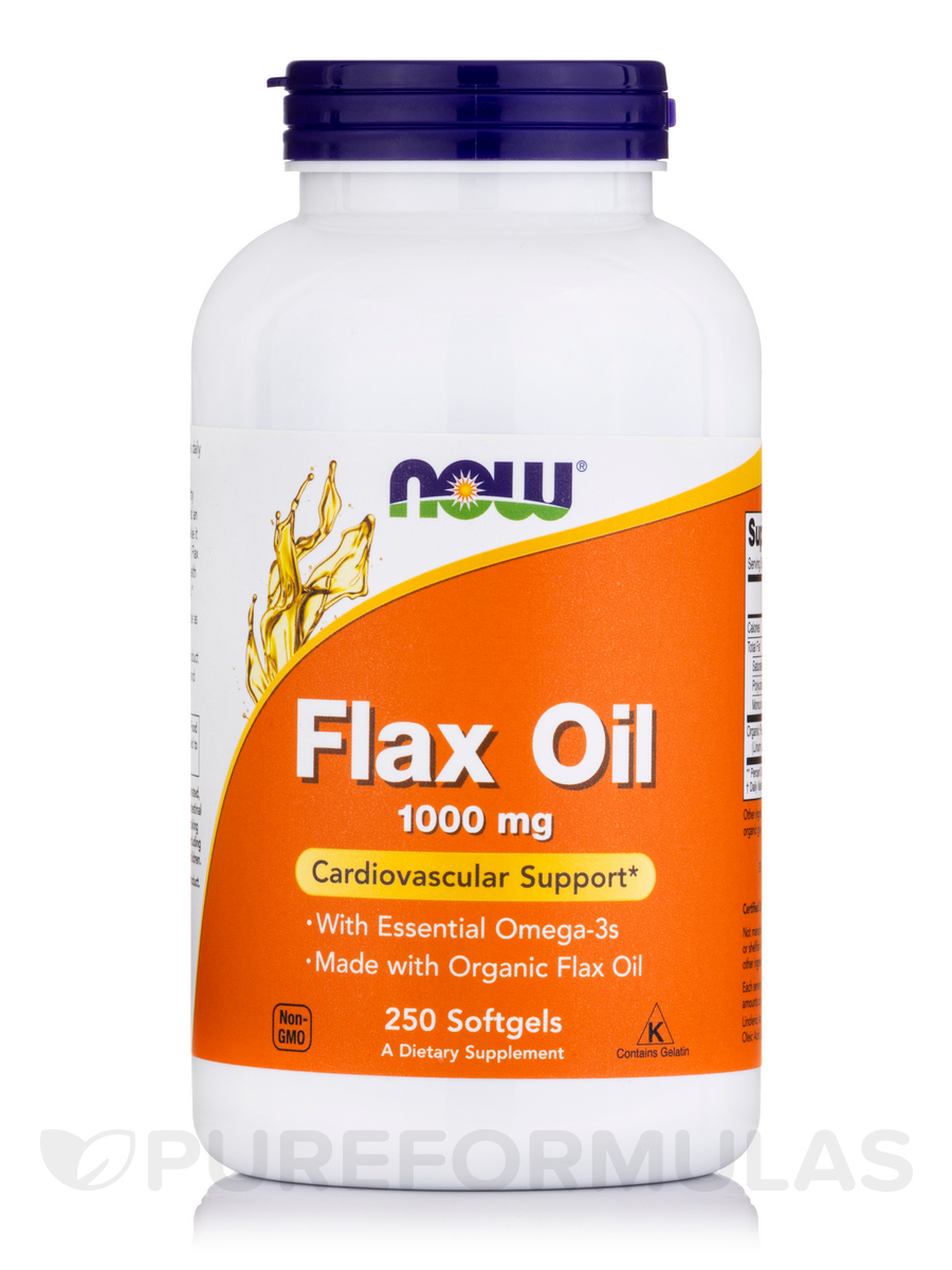 Flax Oil 1000 mg - 250 Softgels