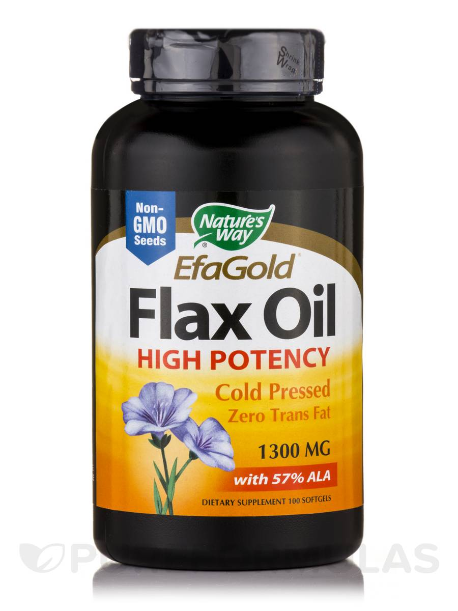 Flax Oil 1300 mg - 100 Softgels