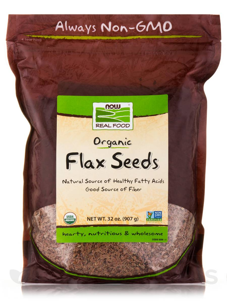 NOW® Real Food - Flax Seed - 32 oz (907 Grams)
