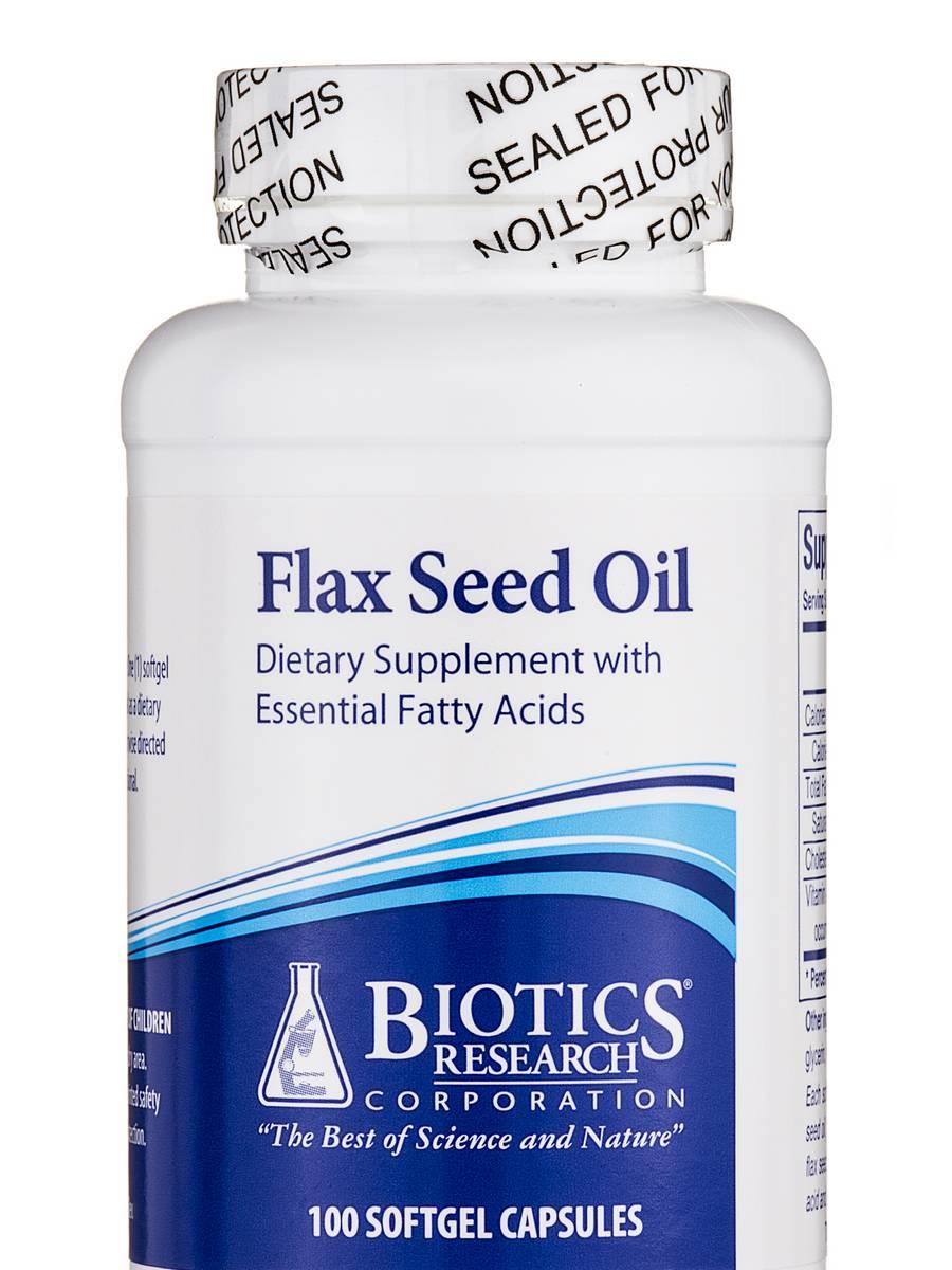 Flax Seed Oil - 100 Capsules