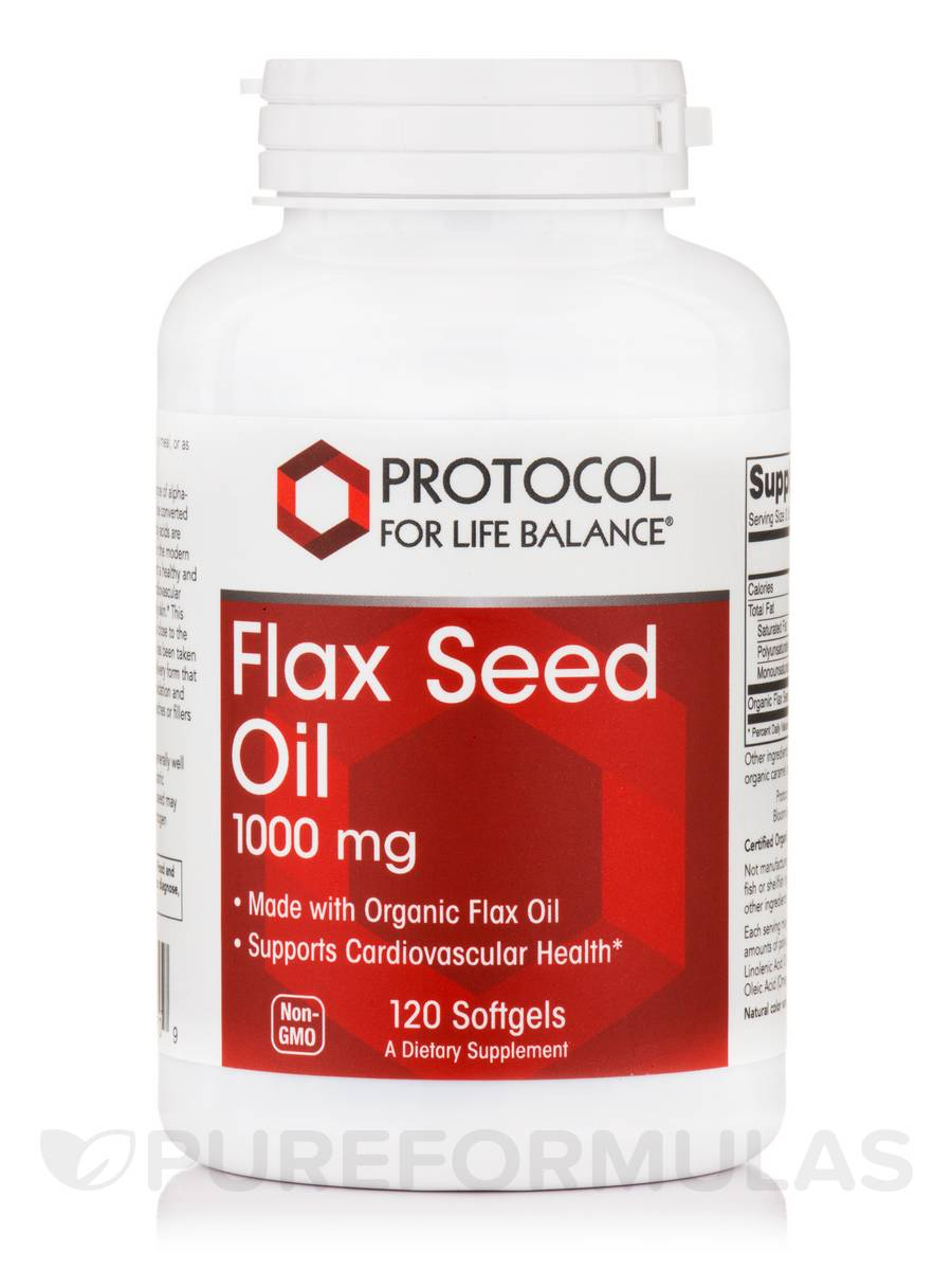 Flax Seed Oil 1000 mg - 120 Softgels
