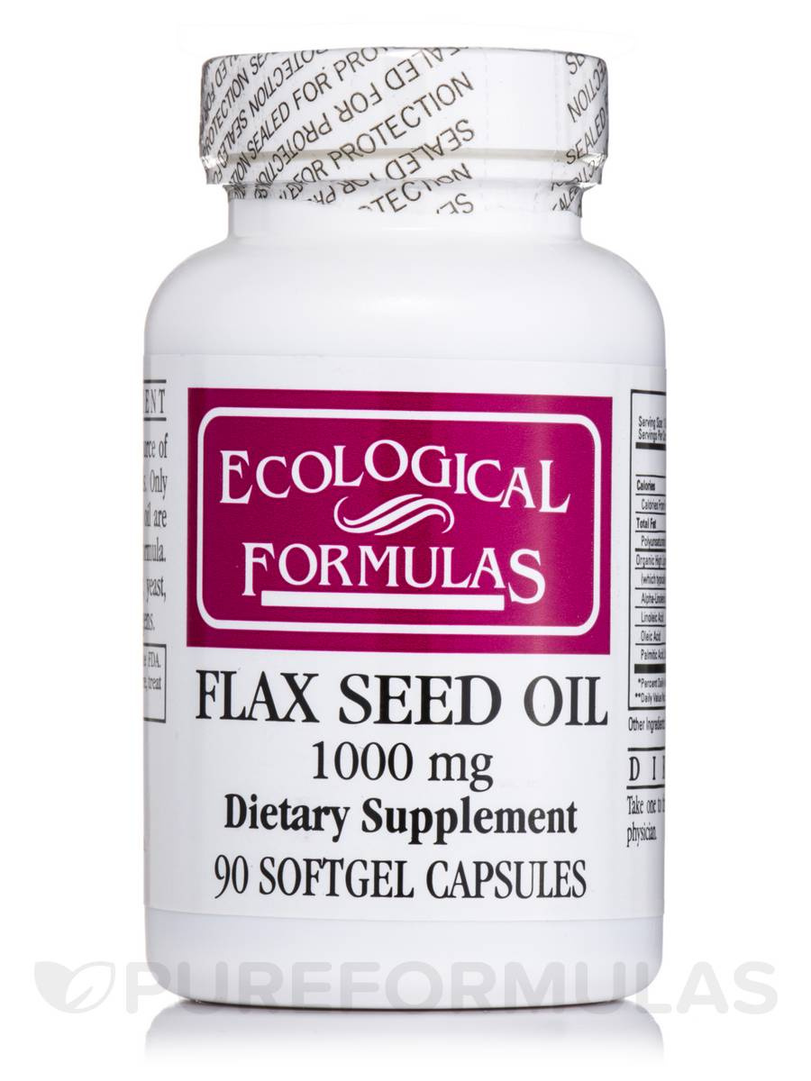 Flax Seed Oil 1000 mg - 90 Softgel Capsules