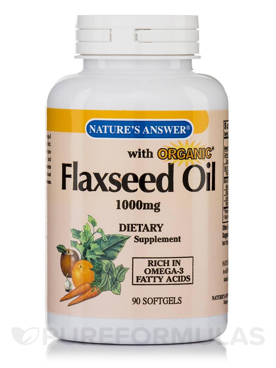 Flaxseed Oil 1000mg - 90 Softgels