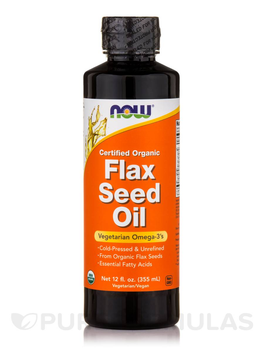 Flax Seed Oil - 12 fl. oz (355 ml)