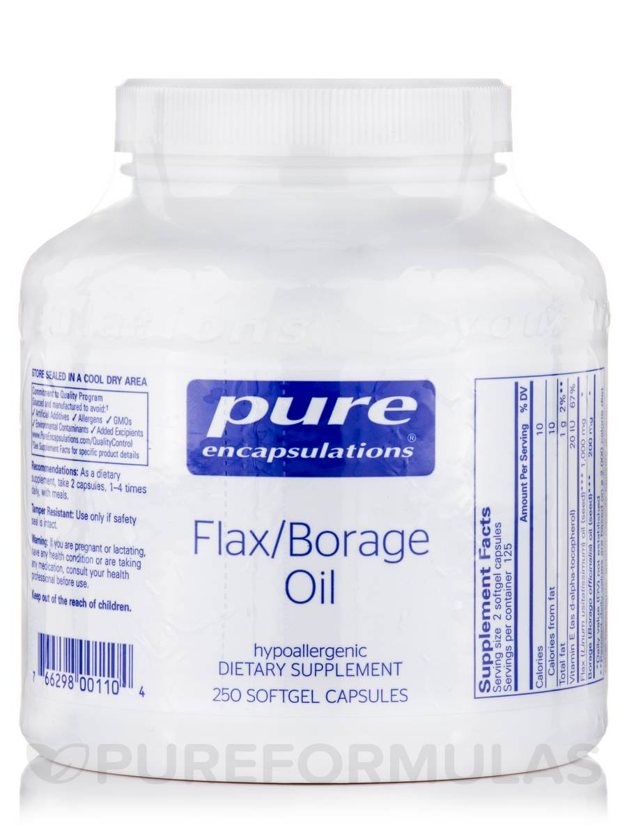Flax/Borage Oil - 250 Softgels Capsules