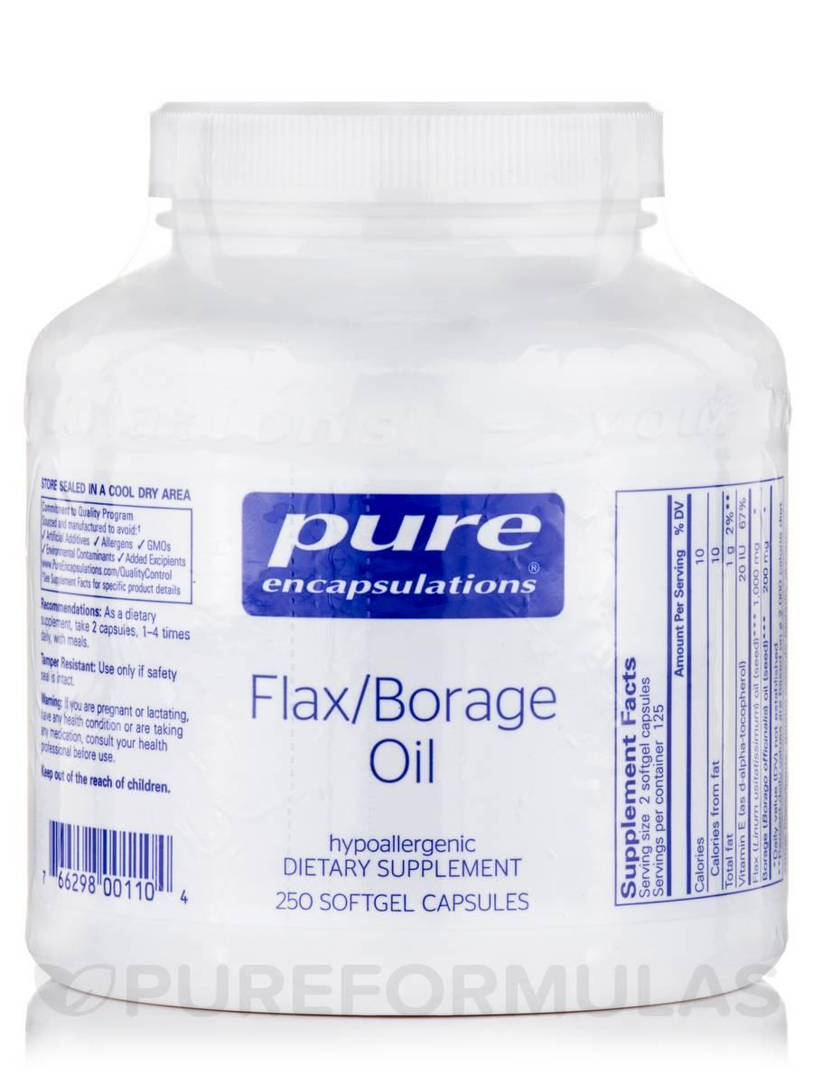 Flax/Borage Oil - 250 Softgels Capsules