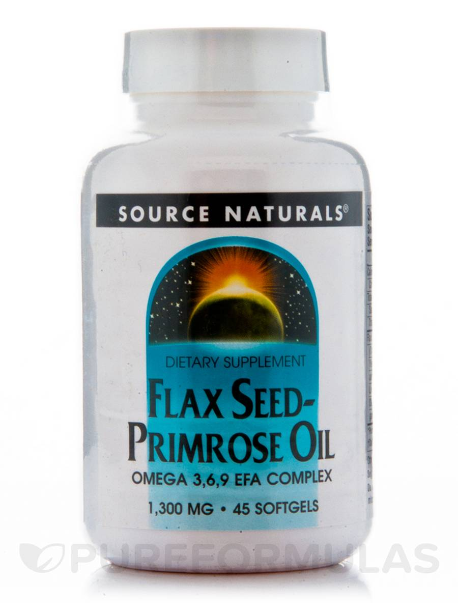 Flaxseed-Primrose 1300 mg - 45 Softgels
