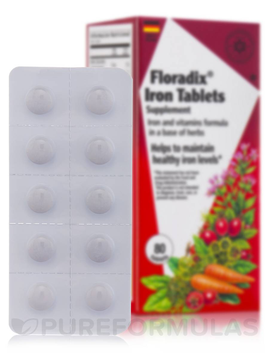 Floradix Iron + Herb Tablets - 80 Tablets