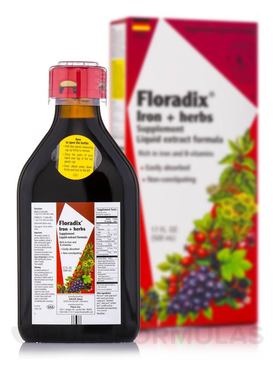 Floradix® Iron+Herbs - 17 fl. oz (500 ml)
