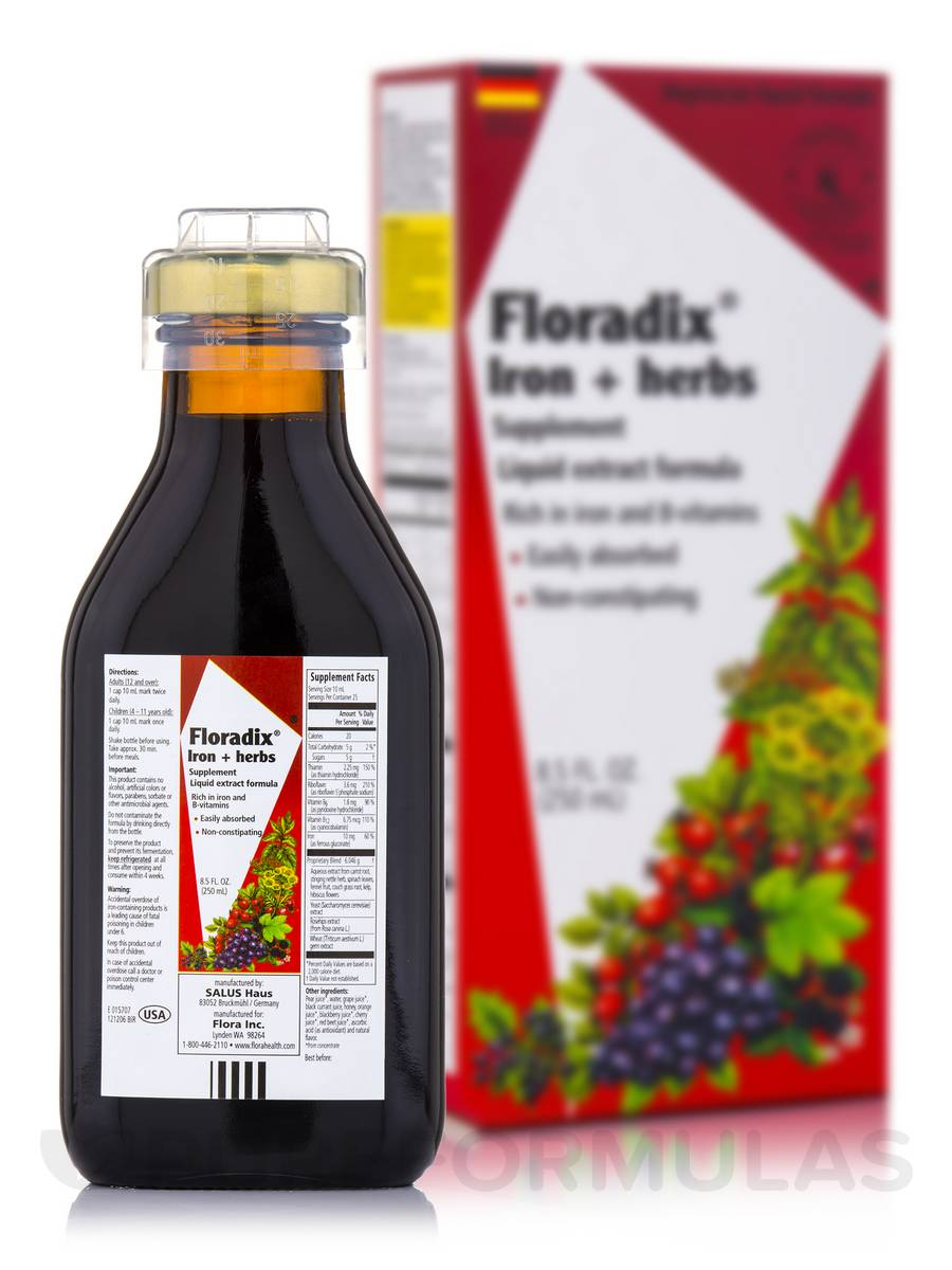 Floradix® Iron+Herbs - 8.5 fl. oz (250 ml)