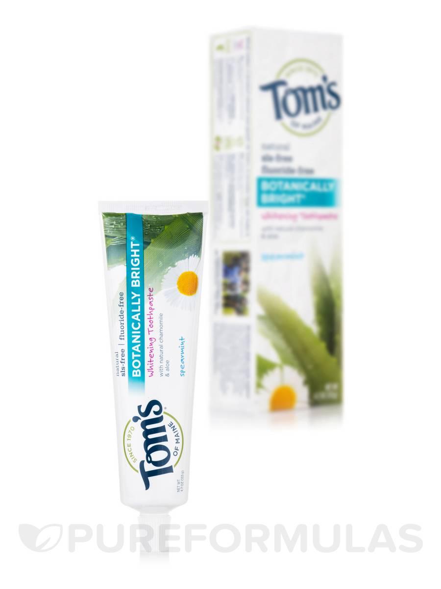Fluoride-Free Botanically Bright® Whitening Toothpaste, Spearmint - 4.7 oz (133 Grams)