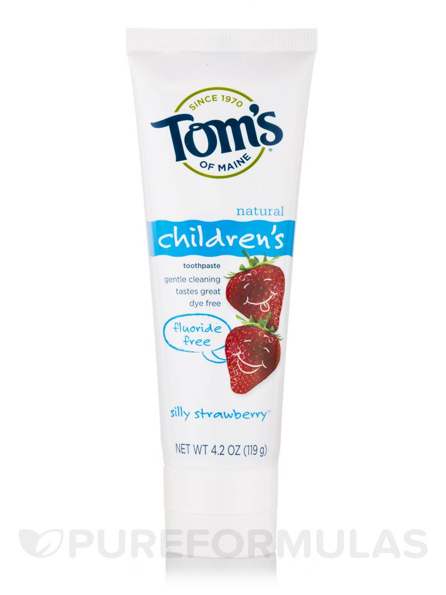 Fluoride-Free Children's Toothpaste, Silly Strawberry™ - 4.2 oz (119 Grams)
