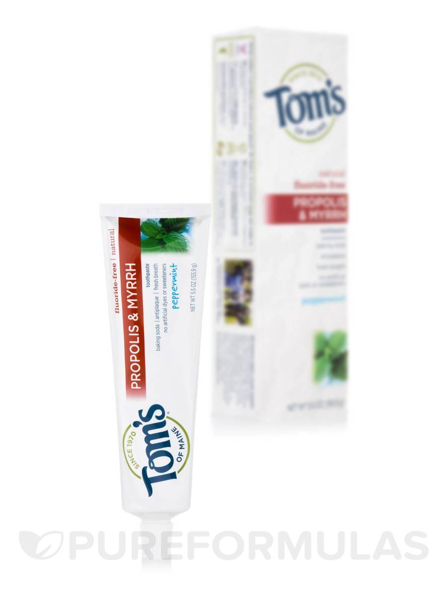 Fluoride-Free Propolis & Myrrh Toothpaste, Peppermint - 5.5 oz (155.9 Grams)
