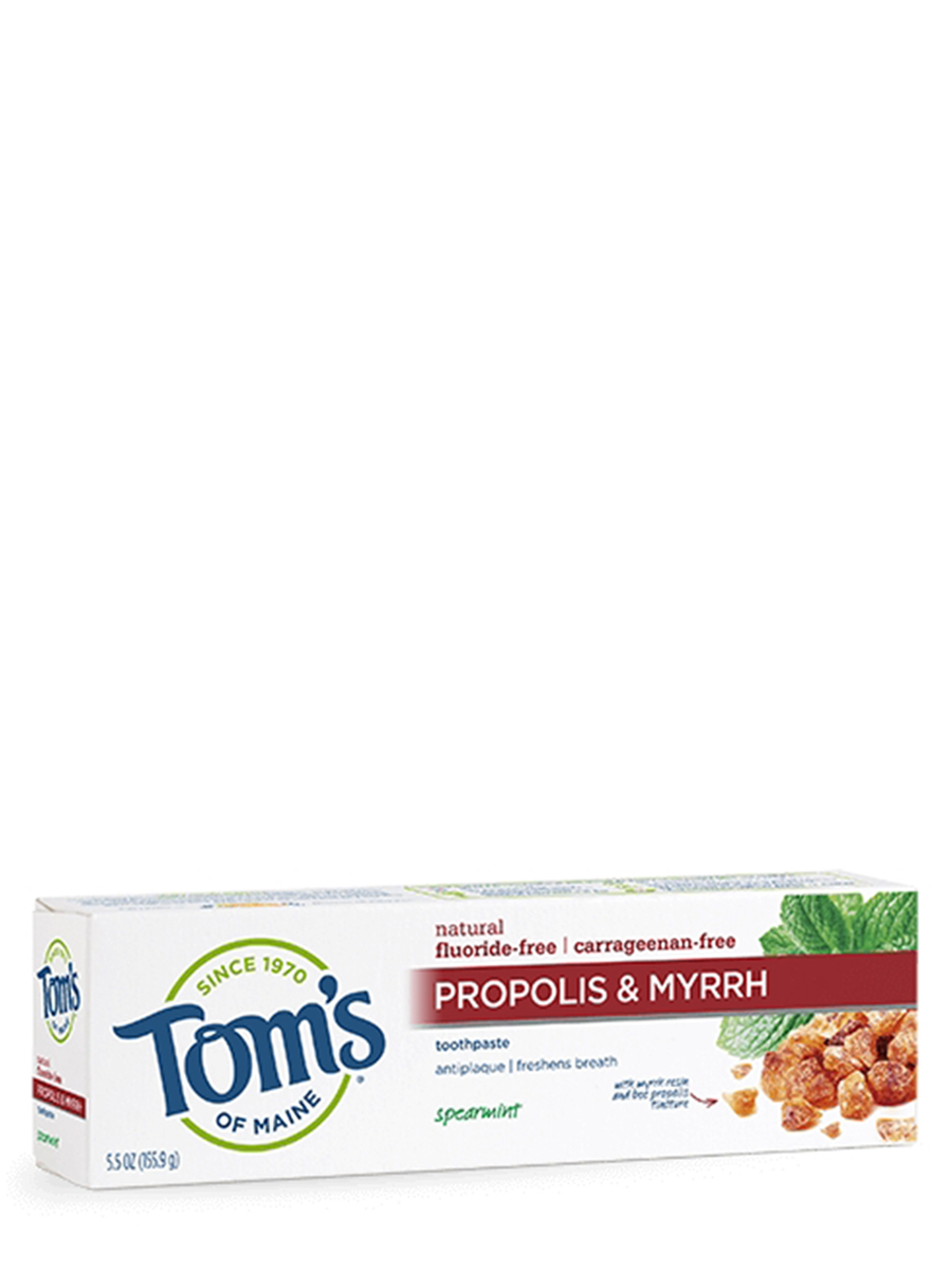 Fluoride-Free Propolis & Myrrh Toothpaste, Spearmint - 5.5 oz (155.9 Grams)