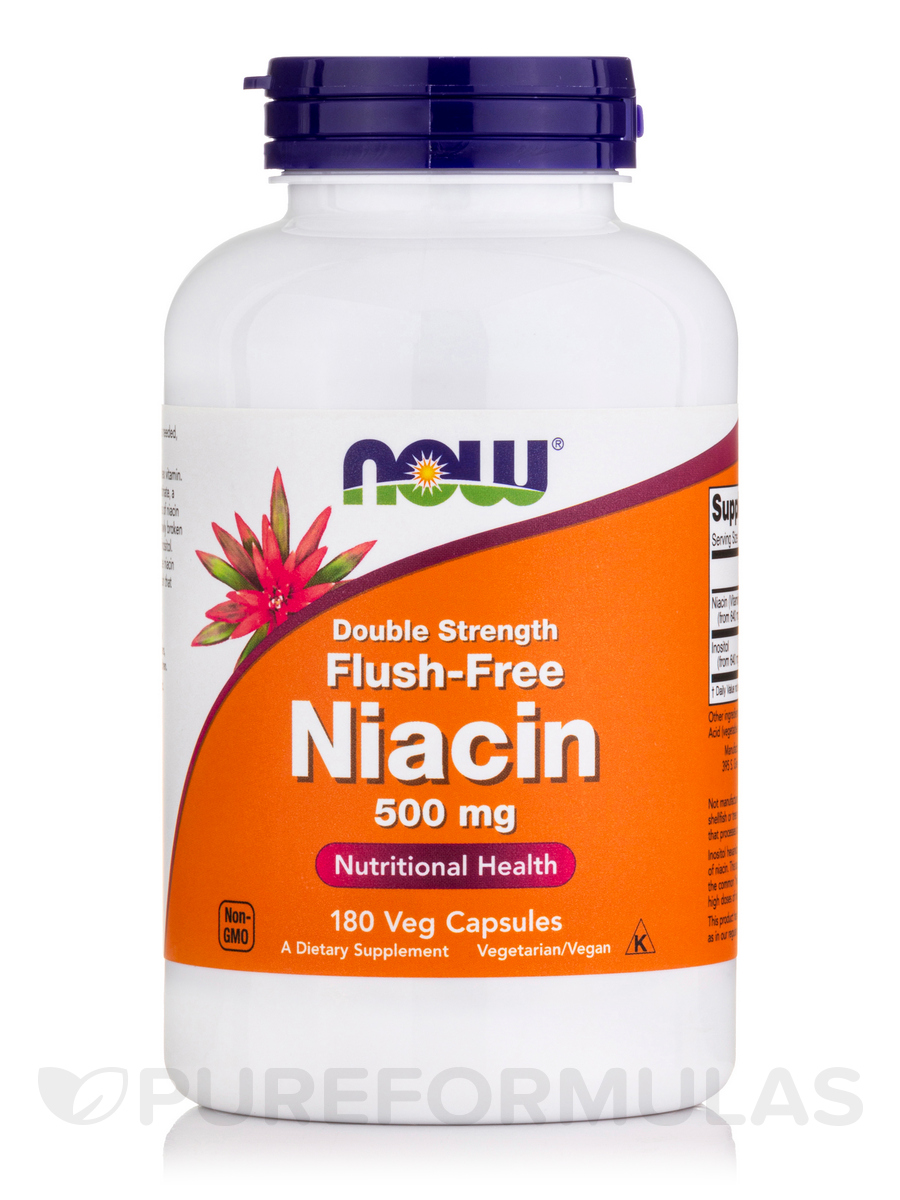 Flush-Free Niacin 500 mg - 180 Veg Capsules