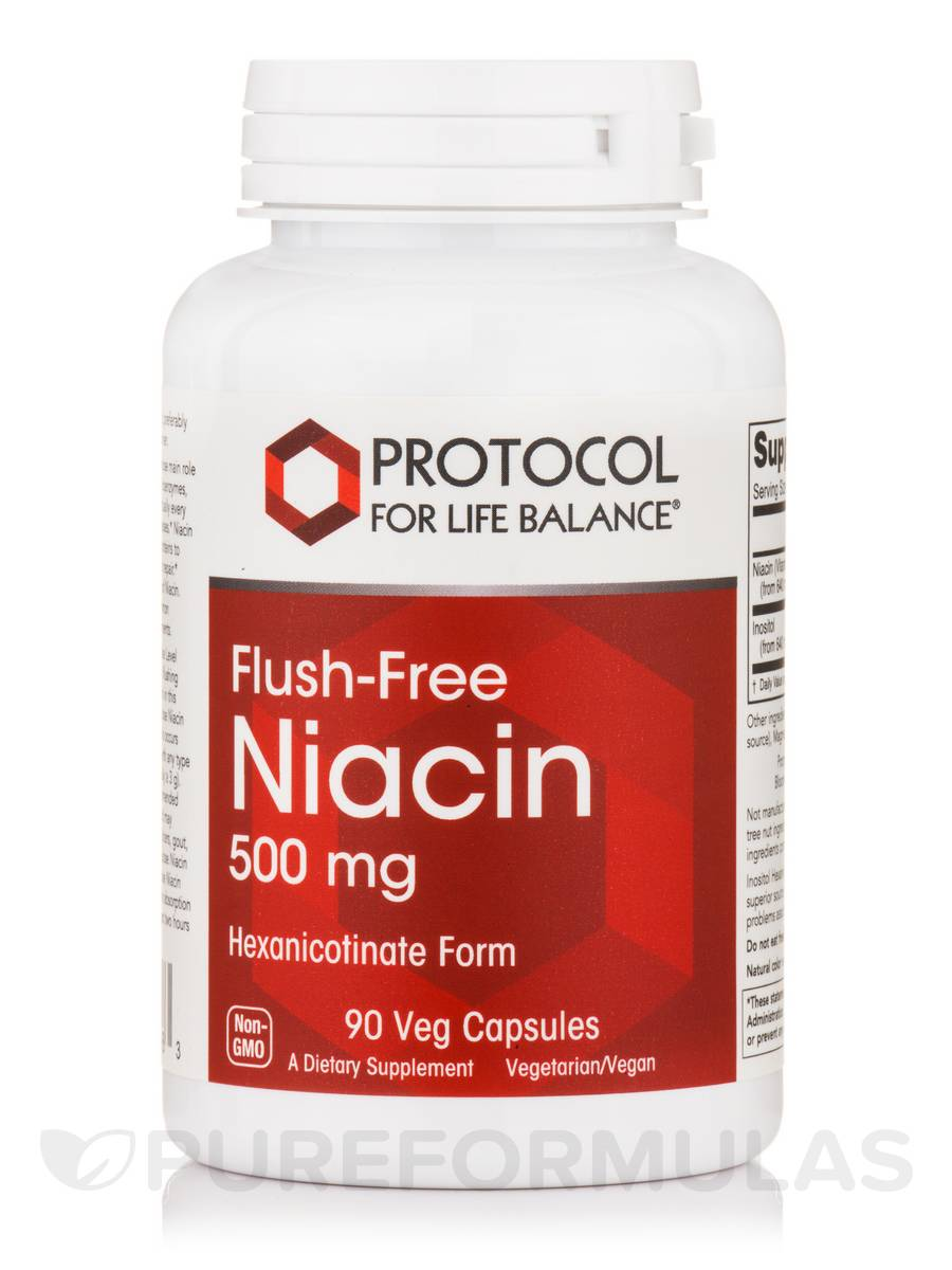 Flush-Free Niacin 500 mg - 90 Vcaps