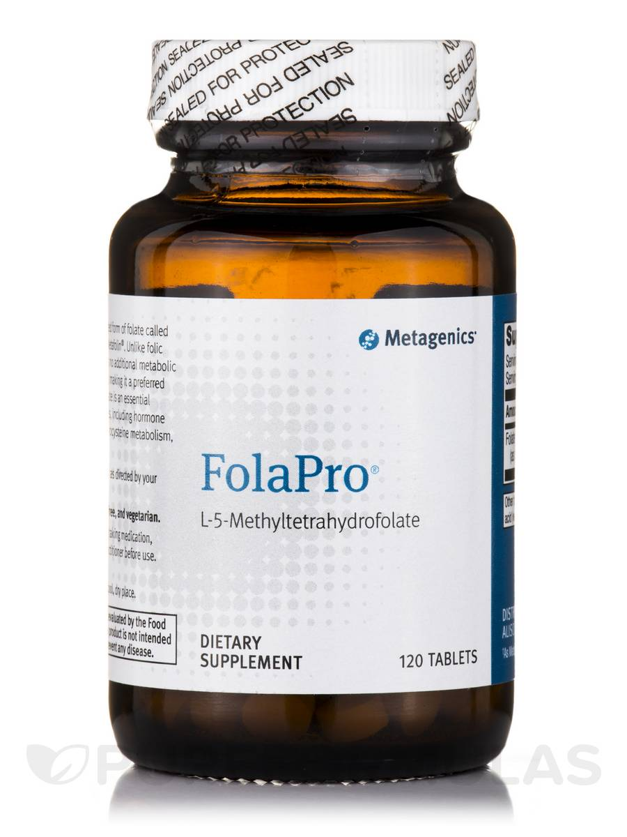 FolaPro® L-5-MethylTetrahydrofolate - 120 Tablets