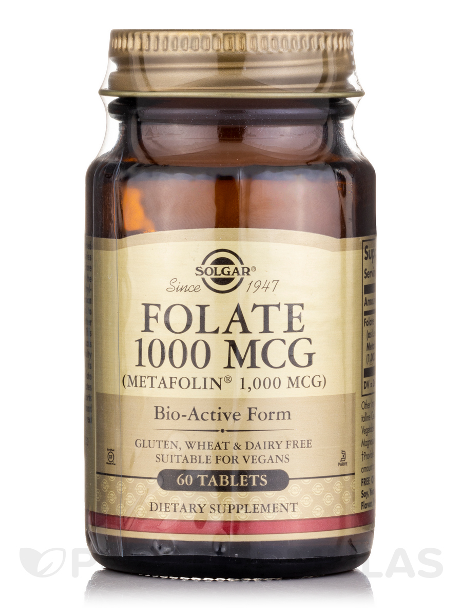 Folate 1000 mcg (as Metafolin®) - 60 Tablets