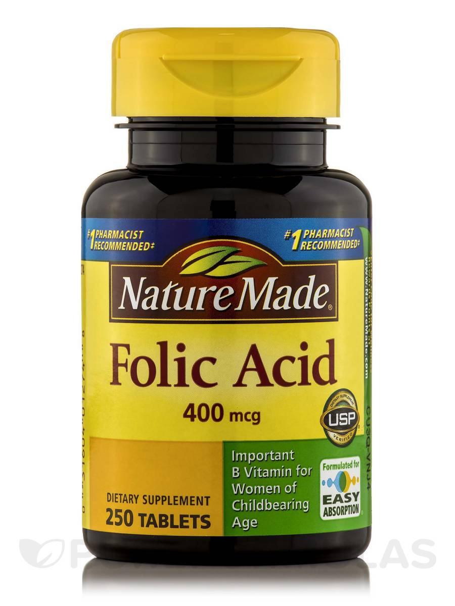Folic Acid 400 mcg - 250 Tablets
