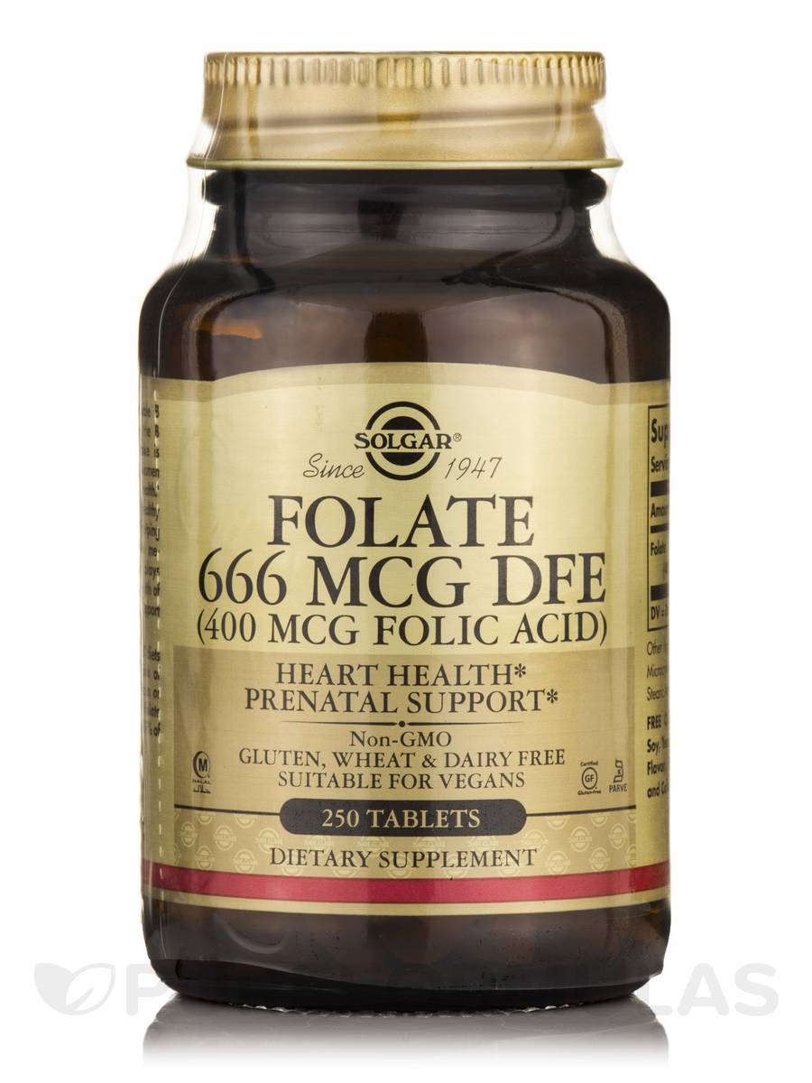 Folate 666 mcg DFE - 250 Tablets