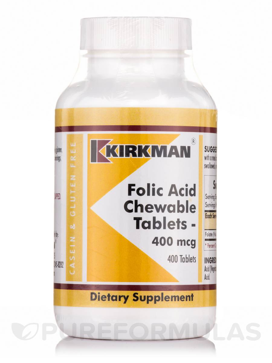 Folic Acid 400 mcg - 400 Chewable Tablets