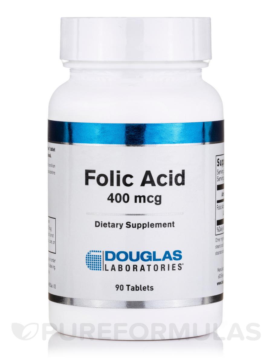 Folic Acid 400 mcg - 90 Tablets