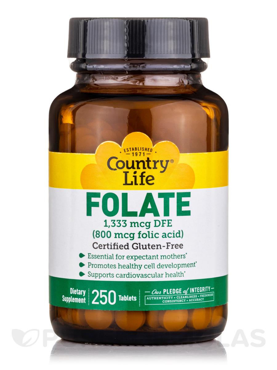 Folic Acid 800 mcg - 250 Tablets