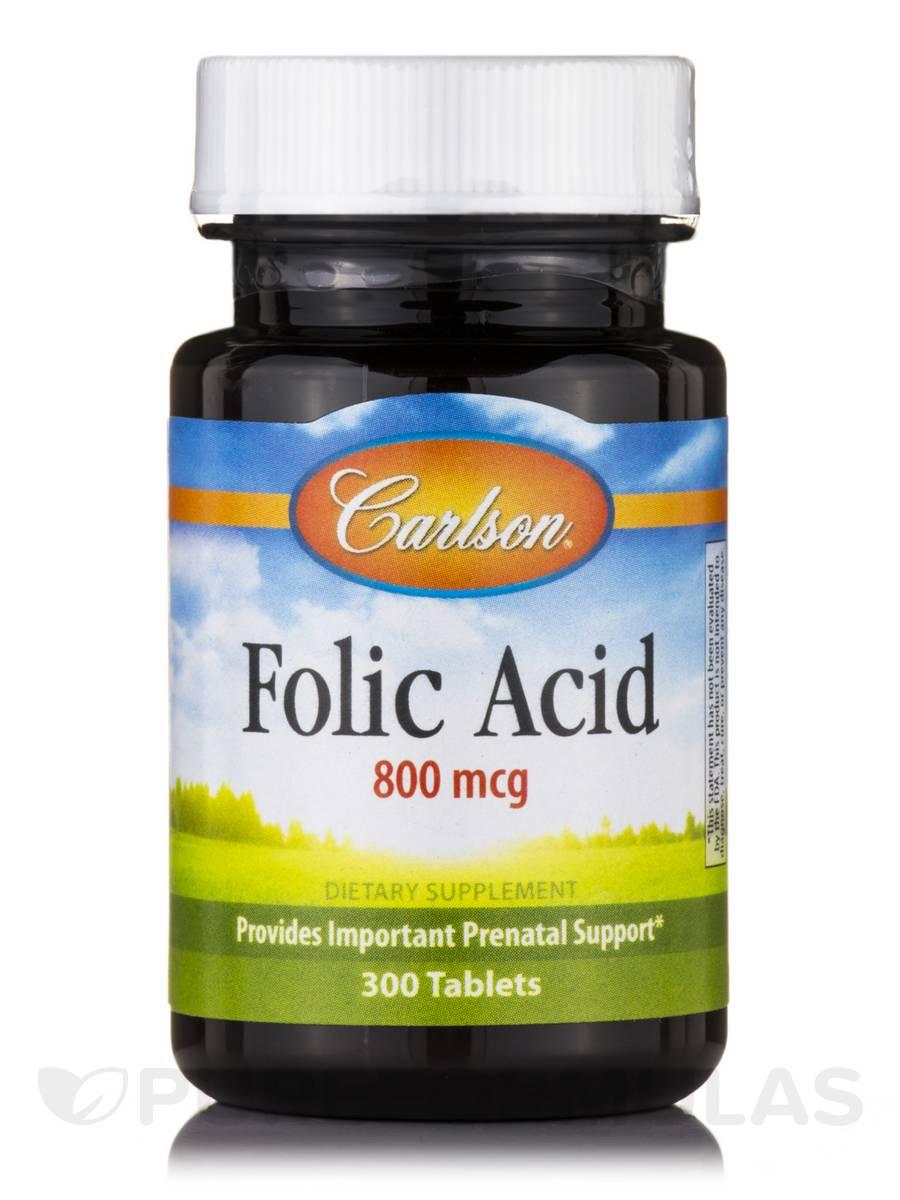 Folic Acid 800 mcg - 300 Tablets