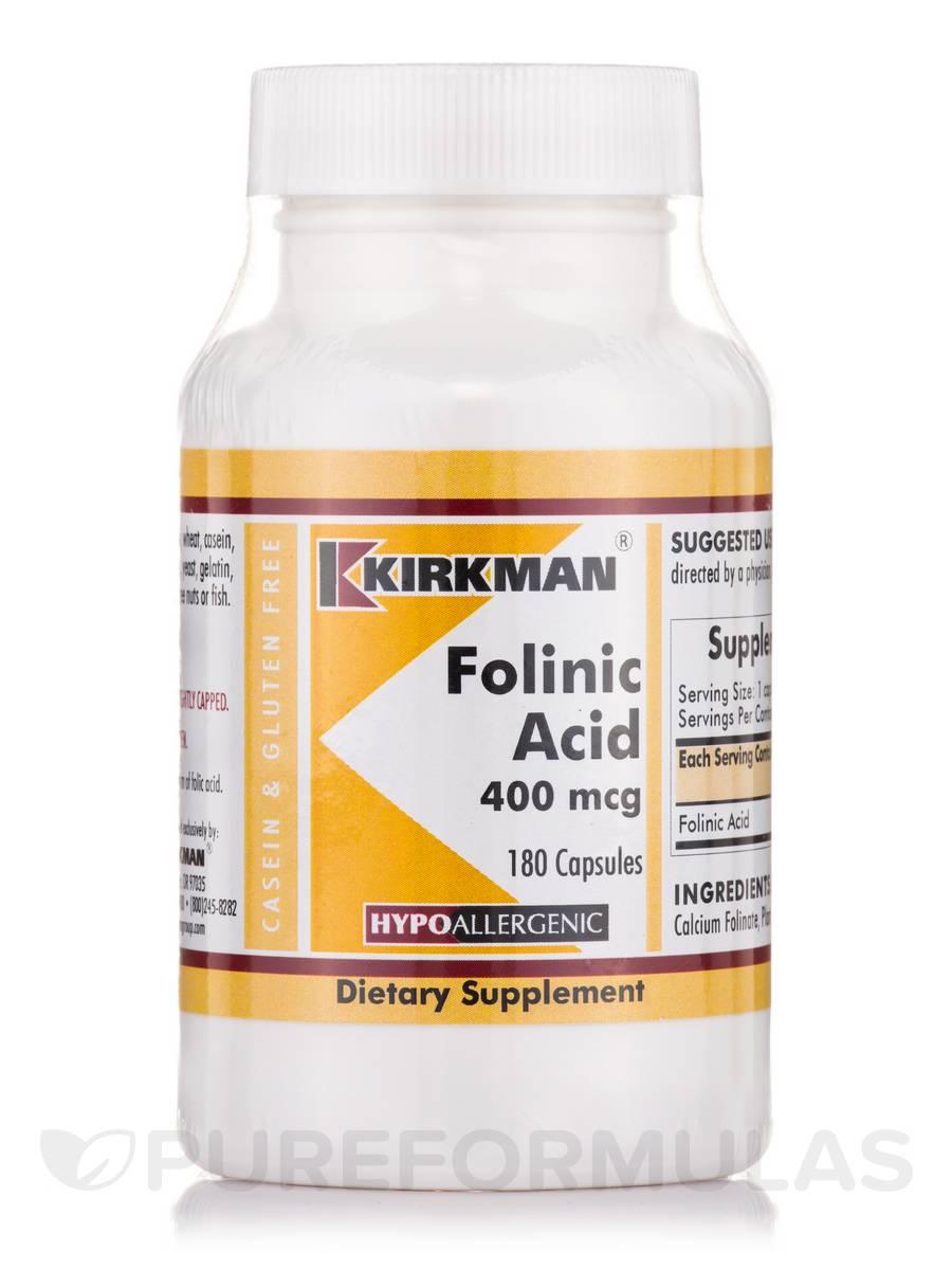 Folinic Acid 400 mcg - 180 Capsules