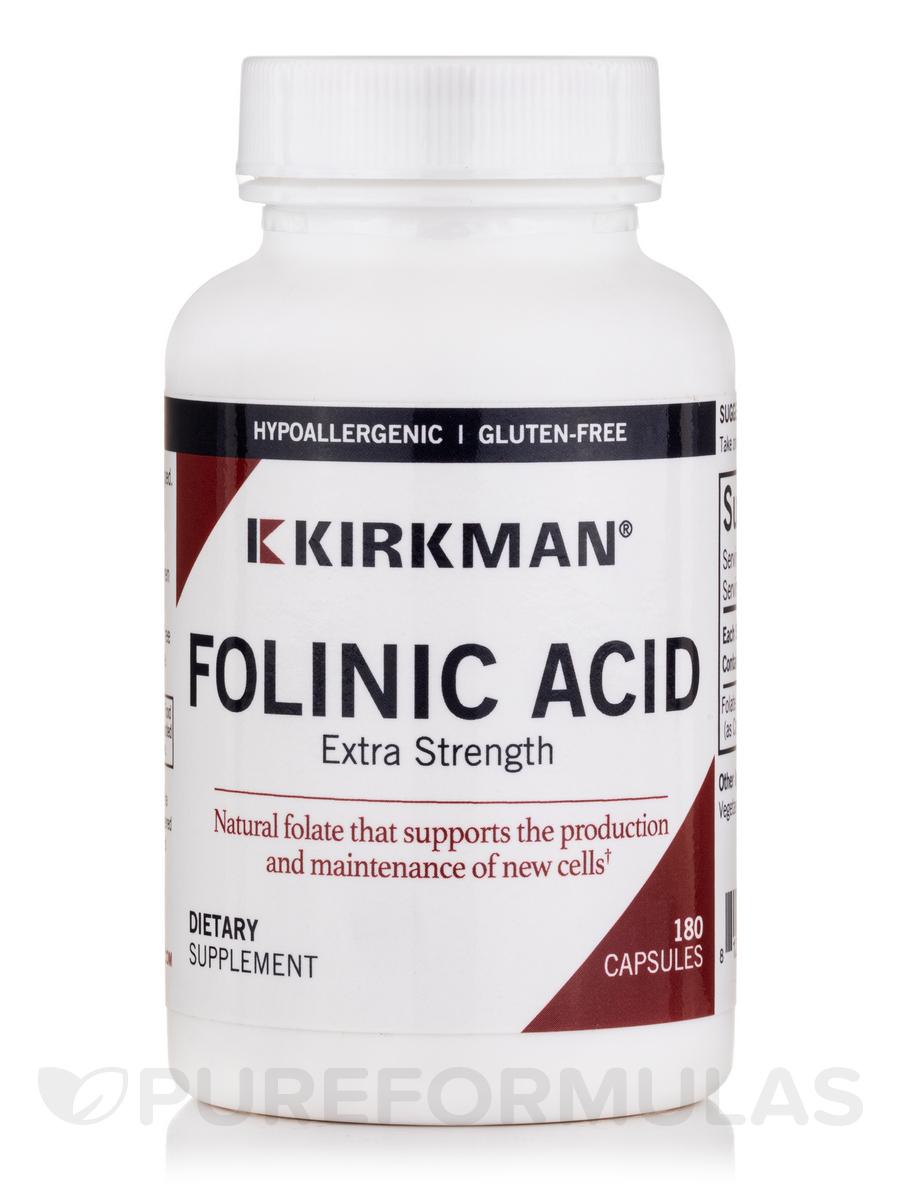 Folinic Acid 800 mcg -Hypoallergenic - 180 Capsules