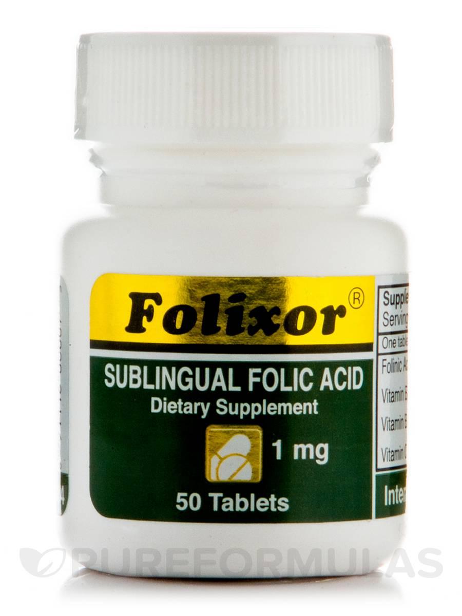 Folixor Sublingual Folic Acid 1 mg - 50 Tablets