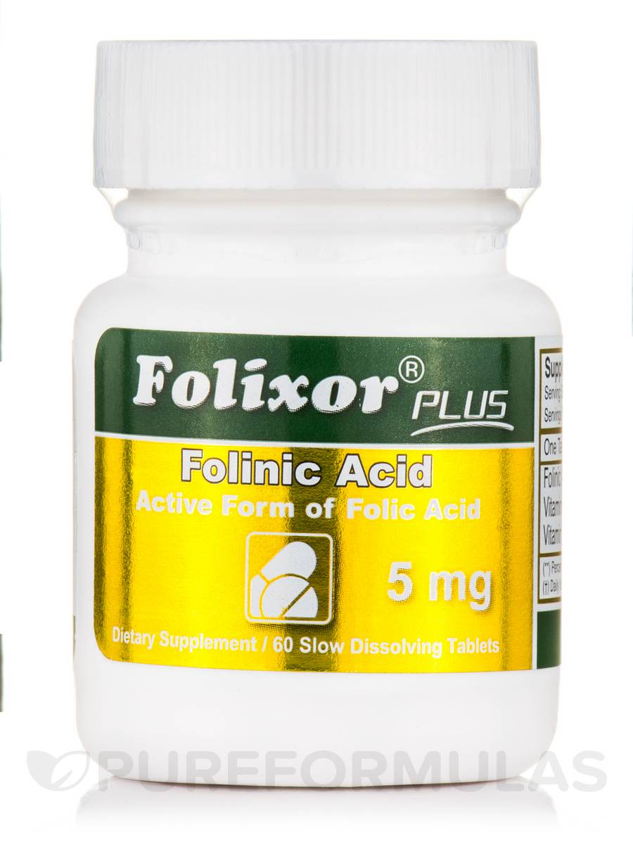 Folixor Sublingual Folic Acid 5 mg - 50 Tablets