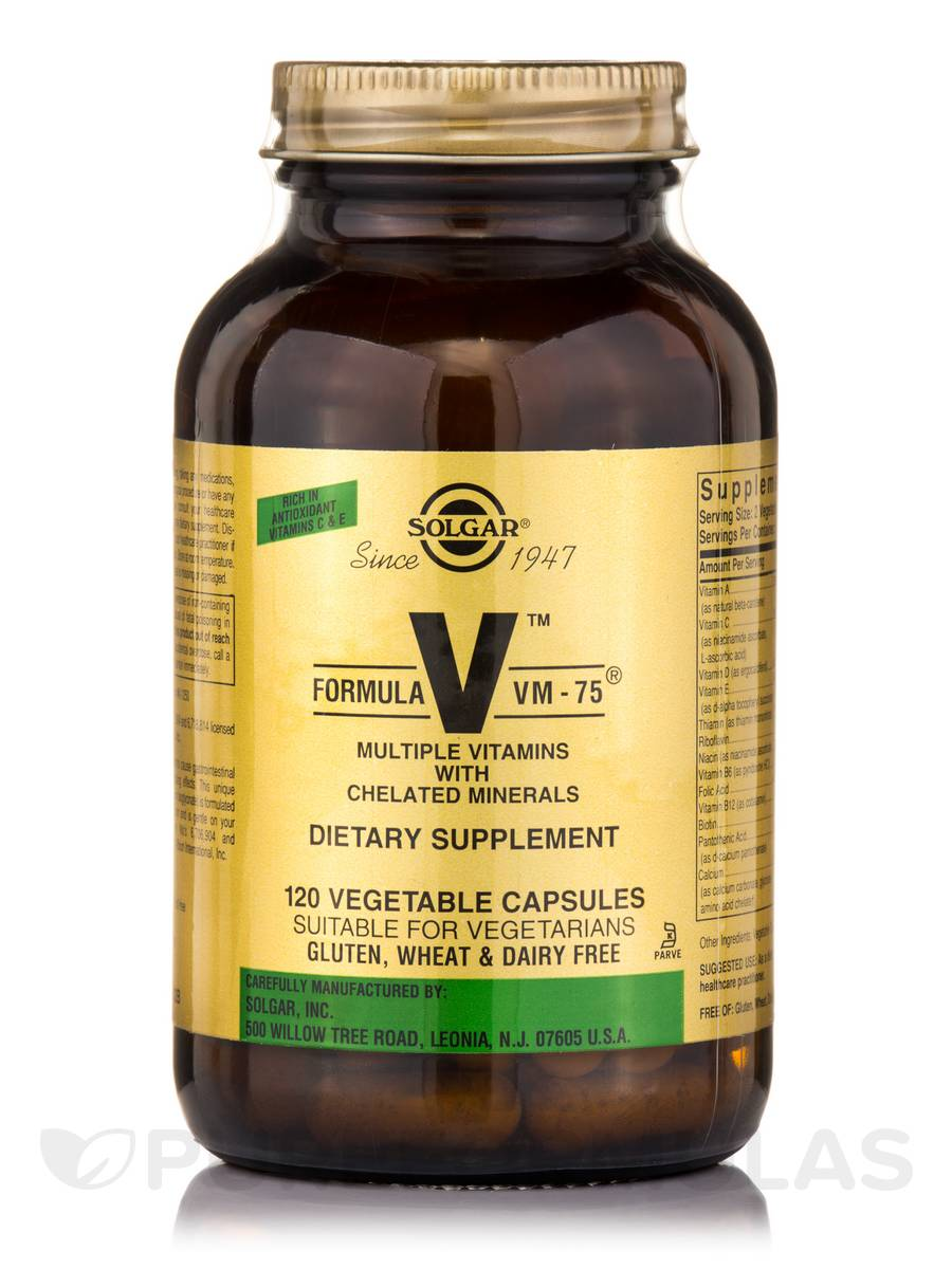 Formula VM-75® (Multiple Vitamins with Chelated Minerals) - 120 Vegetable Capsules