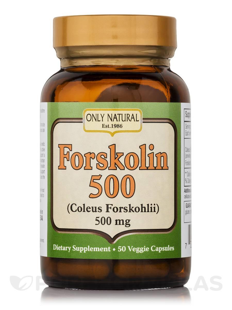 Forskolin 500 (Coleus Forskoholii) 500 mg - 50 Capsules