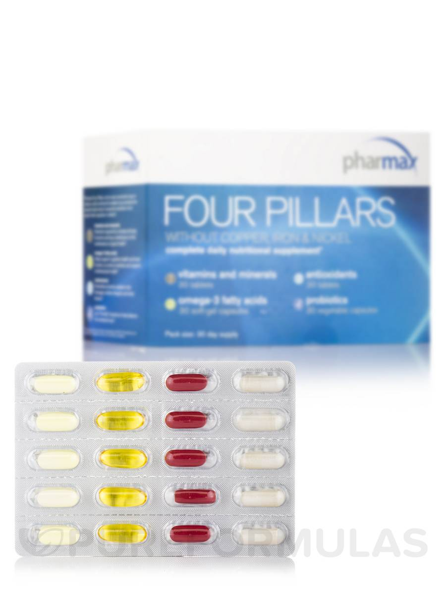 Four Pillars w/o Cu, Fe, Ni Daily Supplement - 30 Servings