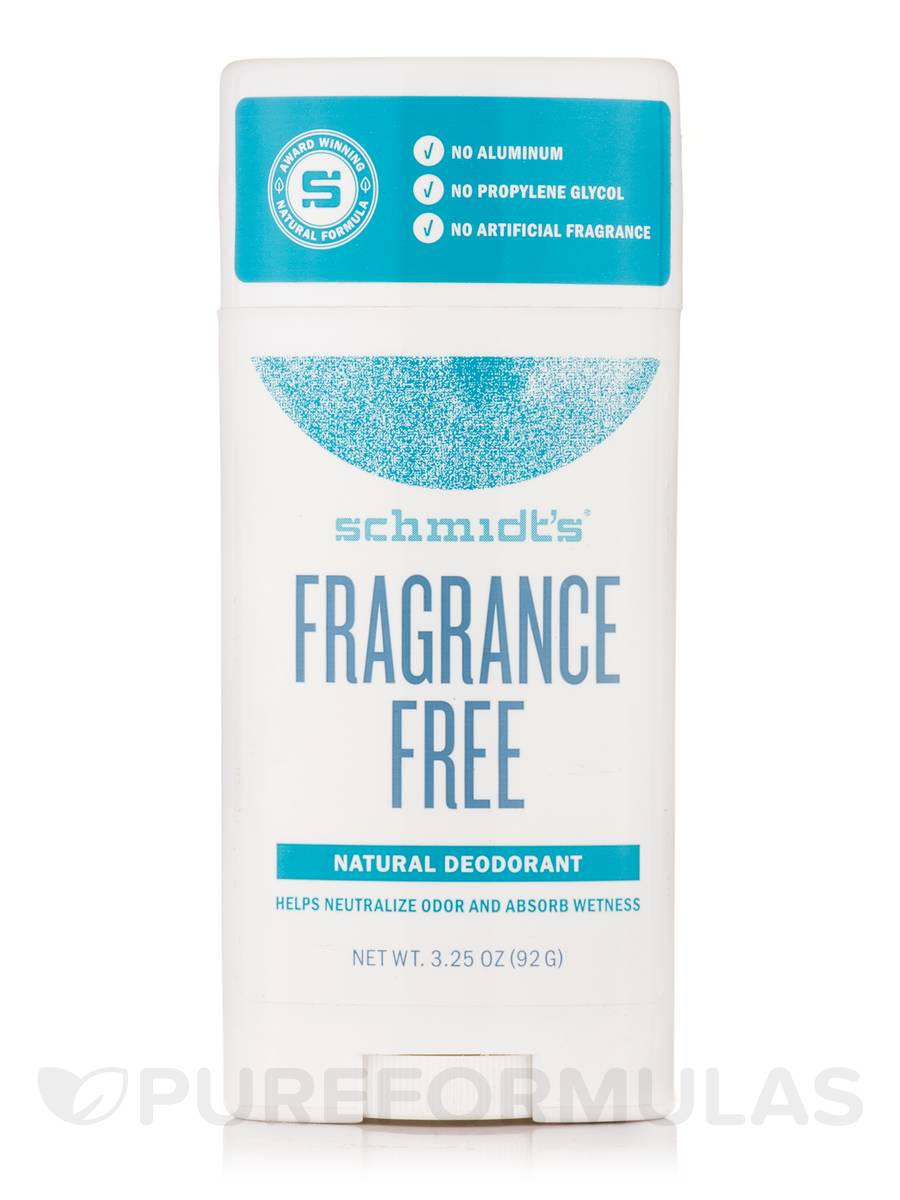 Fragrance-Free Natural Deodorant Stick - 3.25 oz (92 Grams)