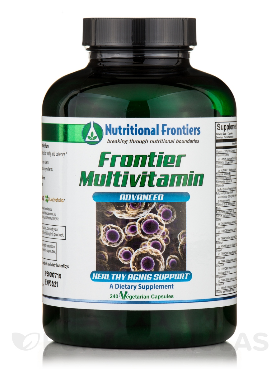 Frontier Multivitamin - 240 Vegetarian Capsules