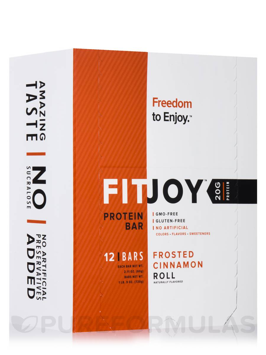Frosted Cinnamon Roll Protein Bars - BOX OF 12 BARS (2.11 oz / 60 Grams Each)