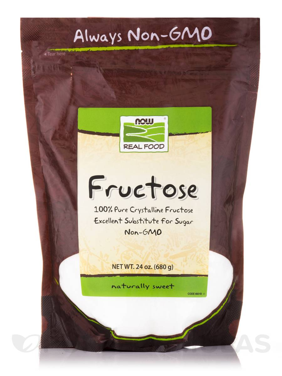 NOW® Real Food - Crystalline Fructose - 24 oz (680 Grams)