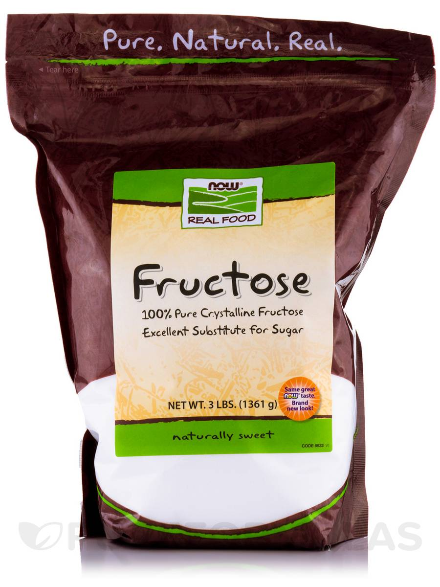 NOW® Real Food - Fructose Fruit Sugar - 3 lbs (1361 Grams)