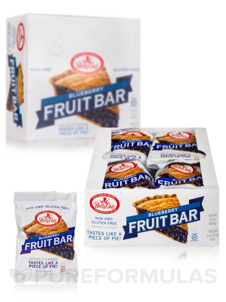 Blueberry Fruit Bar - Box of 12 Bars